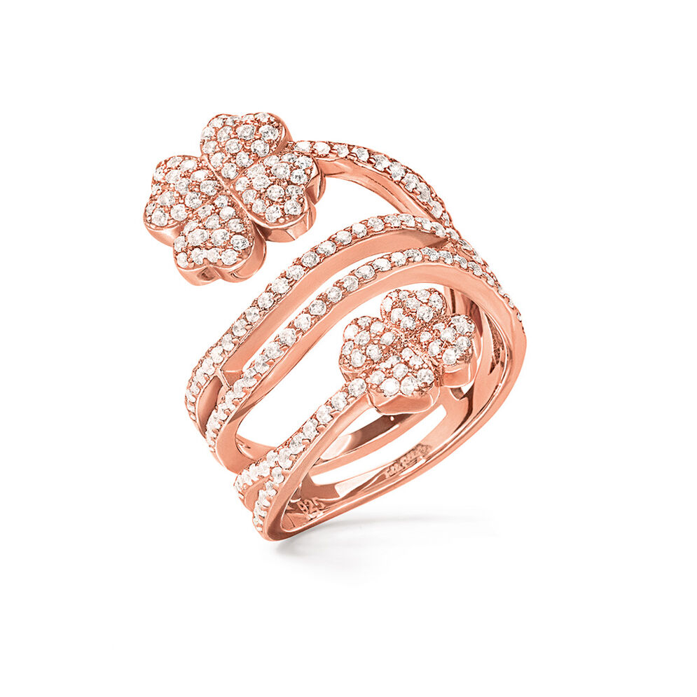Heart4Heart Rose Gold Plated Δαχτυλίδι, , hires