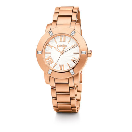 Donatella Small Case Bracelet Watch, Bracelet Rose Gold, hires