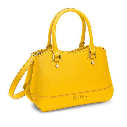 Uptown Beauty Detachable Long Strap Handbag, Yellow, hires