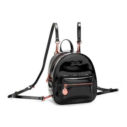 Metallic Love Mini Backpack, Black, hires