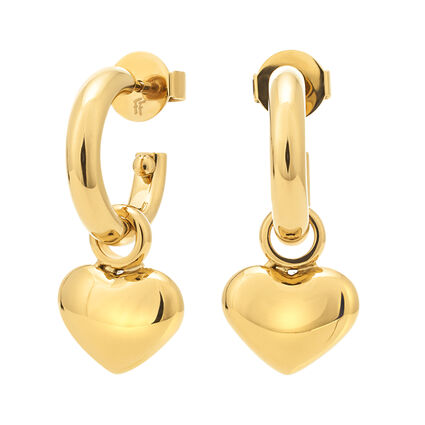 Style Stories Yellow Gold Plated Κοντά Σκουλαρίκια, , hires