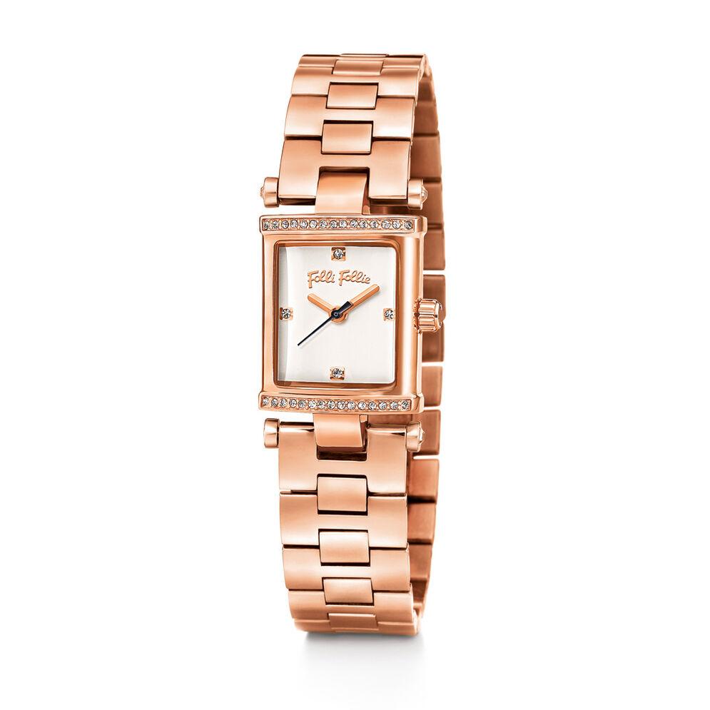 Square Logic Watch, Bracelet Rose Gold, hires