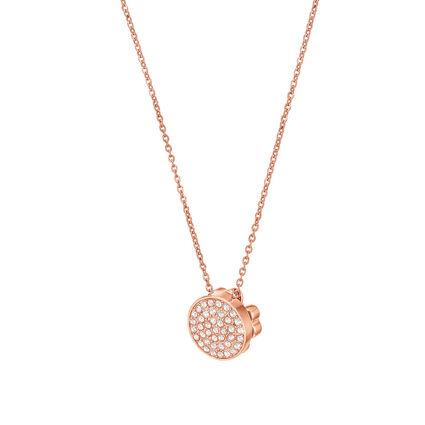 Heart4Heart Rose Gold Plated Κοντό Κολιέ, , hires