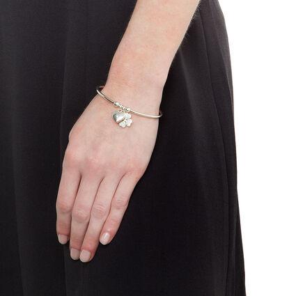 Heart4Heart Sweetheart Silver Plated Heart4Heart Pattern & Dome Heart Motif Cuff Bracelet, , hires