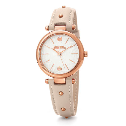 Cyclos Rocks Medium Case Leather Watch , Pink, hires