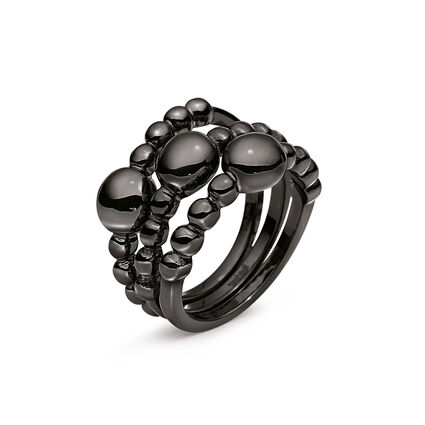 Carma Beads Black Plated Set Ring, , hires