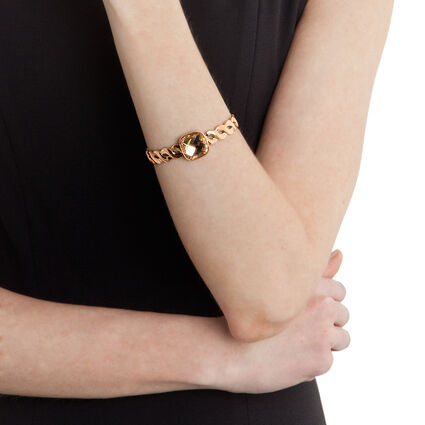 Apeiron Rose Gold Plated Champaign Square Stone Cuff Bracelet , , hires