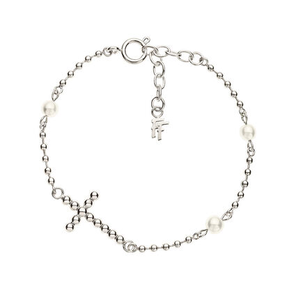 Carma Beads Silver Plated Bracelet, , hires