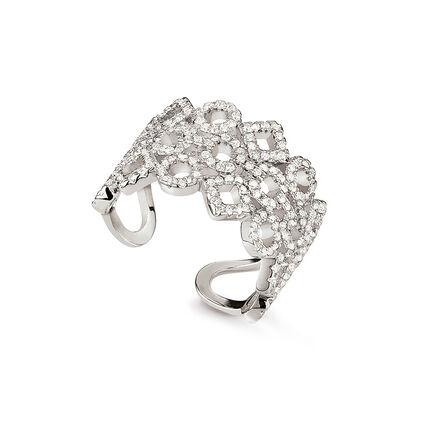 Fashionably silver temptation anillo, , hires