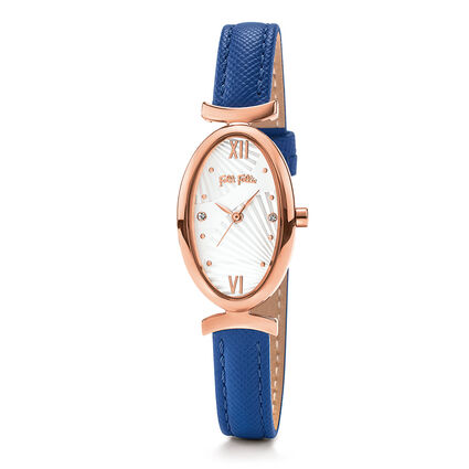 Lady Bloom Watch, Blue, hires