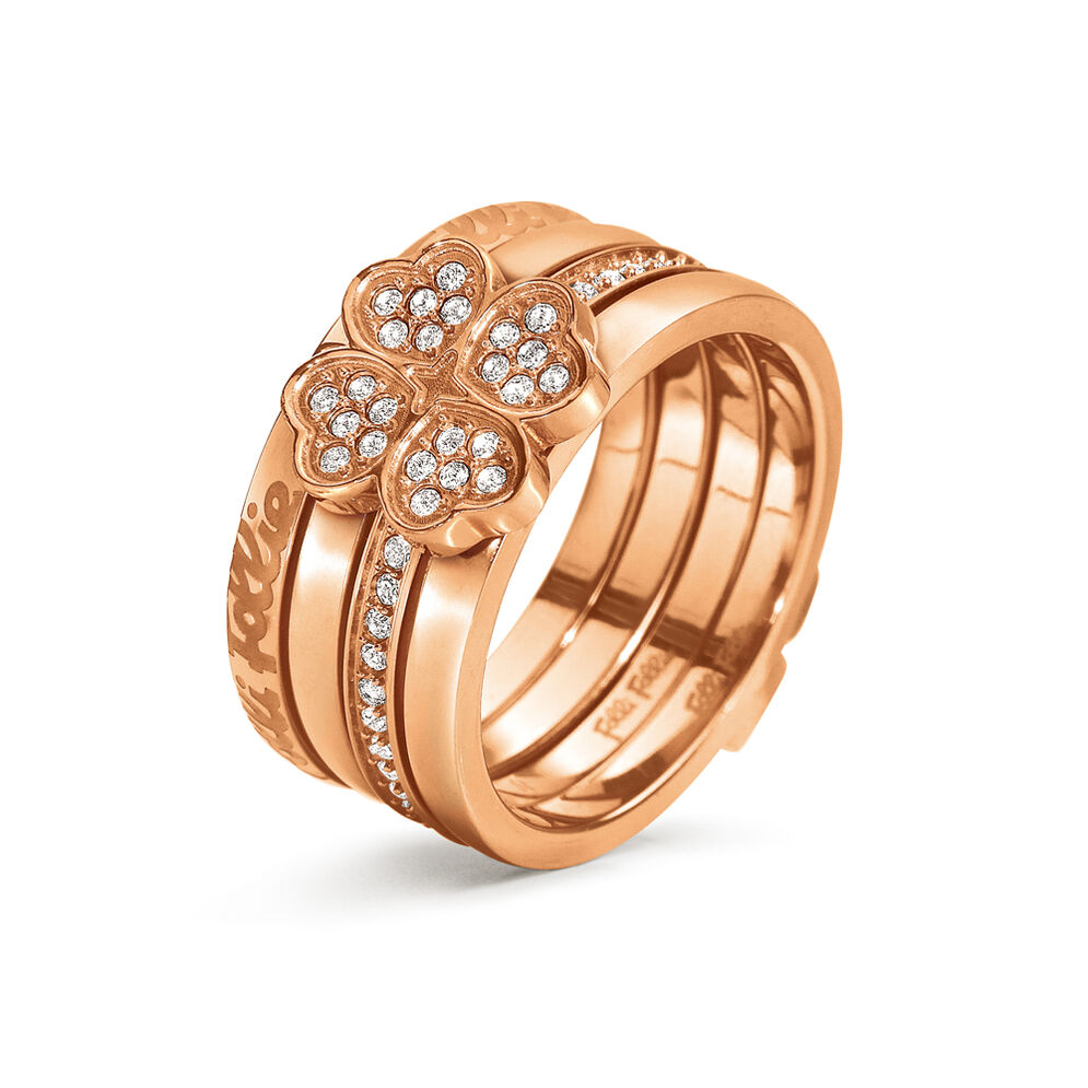 Eternal Heart Rose Gold Plated Set Ring, , hires