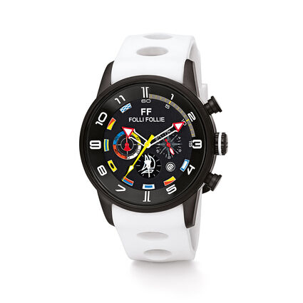 Regatta Big Case Rubber Watch, White, hires