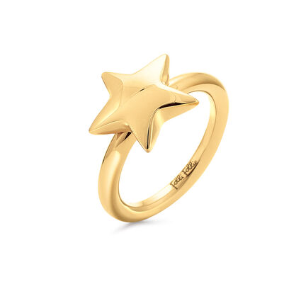 Style Stories Yellow Gold Plated Ring, , hires