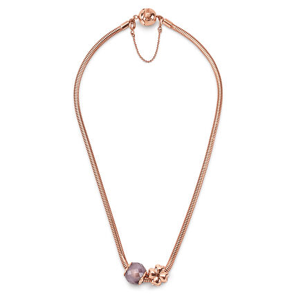 Playful Emotions Rose Gold Plated Happiness Set Necklace , , hires