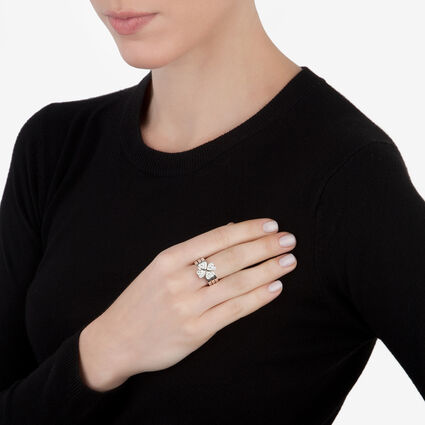 Heart4Heart Silver Plated Pave Clear Crystal Stone Set Ring, , hires