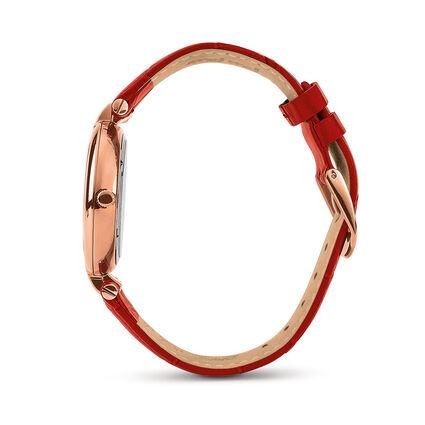 Classy Twist Δερμάτινο Με Ανταλλακτικά Λουράκια Ρολόι, Red, hires