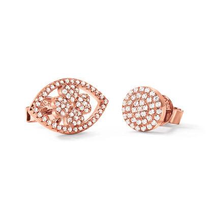 Heart4Heart Mati 18kt Rose Gold Vermeil Stud Earrings , , hires