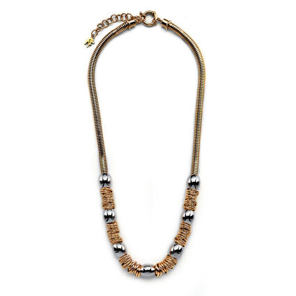 Aegean Breeze Rose Gold Plated Plain Necklace, , hires