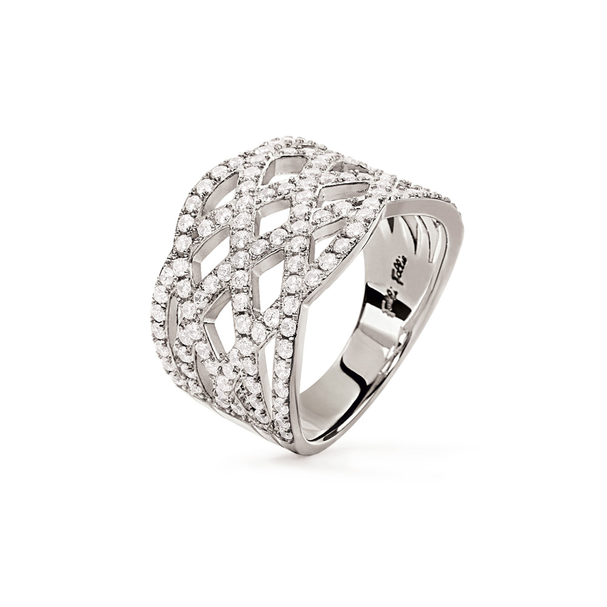 <フォリフォリ> FASHIONABLY SILVER TEMPTATION RING リング