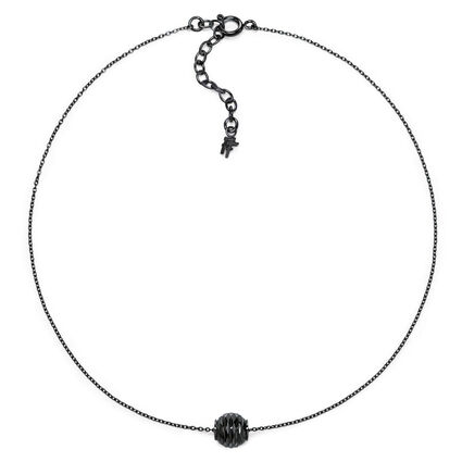 Style Pops Short Black Plated Necklace, , hires