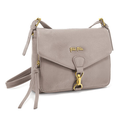 Inspire Leather Crossbody Bag, Gray, hires