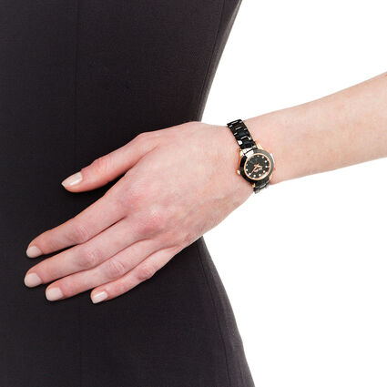 MINI GALA Watch, Bracelet Black, hires