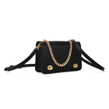 Twin Lock Crossbody Bag, Black, hires