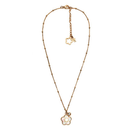 Fiori Chic Rose Gold Plated Mother Of Pearl Short Necklace , , hires