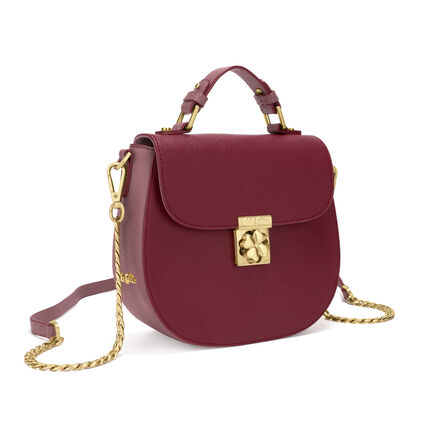 Heart4Heart Two-Tone Shoulder Bag, Burgundy, hires