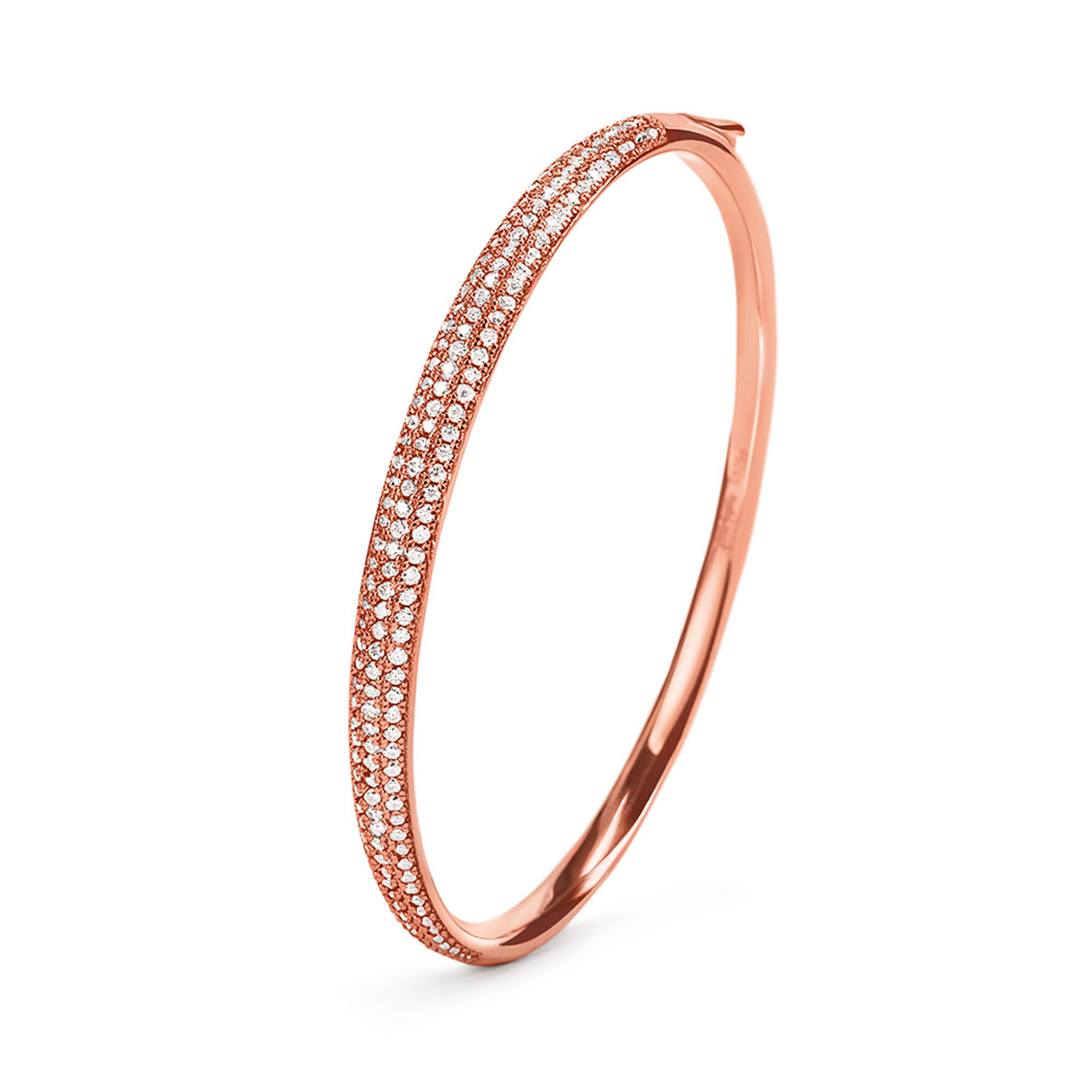gold pave bangle white round bracelet products bangles clear crystals heart from rose ed plated swarovski with