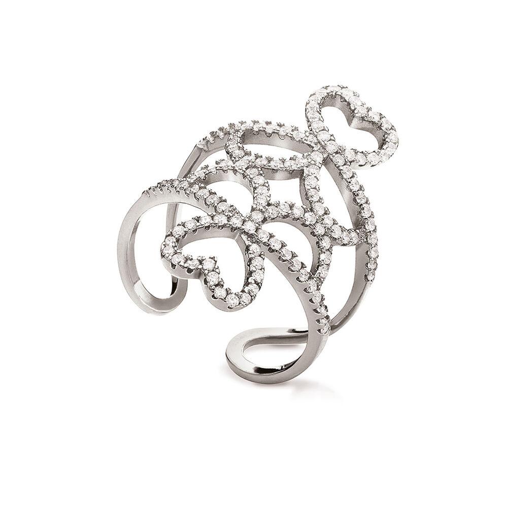 Fashionably Silver Temptation Rhodium Plated Δαχτυλίδι, , hires