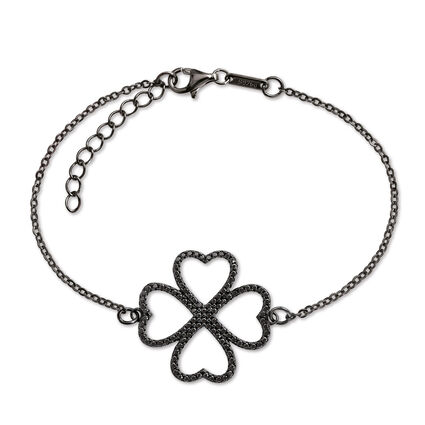 Fashionably Silver Heart4Heart Black Rhodium Plated Βραχιόλι, , hires