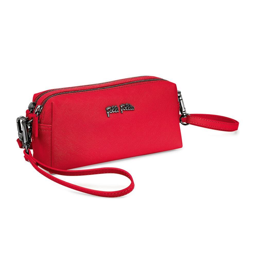Folli Follie Detachable Crossbody Strap Necessaire Bag, Red, hires