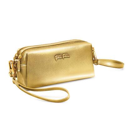Folli Follie Detachable Crossbody Strap Necessaire Bag, Gold, hires