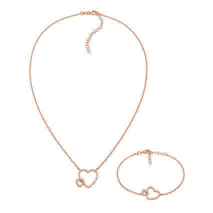 Fashionably Silver Stories Rose Gold Plated Σετ, , hires