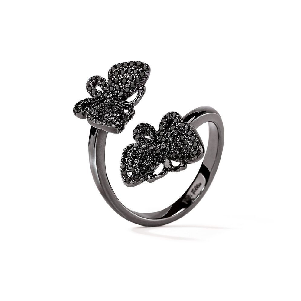 Wonderfly Black Flash Plated Ring, , hires