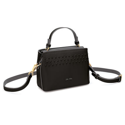 Studded Beauty Mini Tσάντα Xειρός με extra pouch, Black, hires