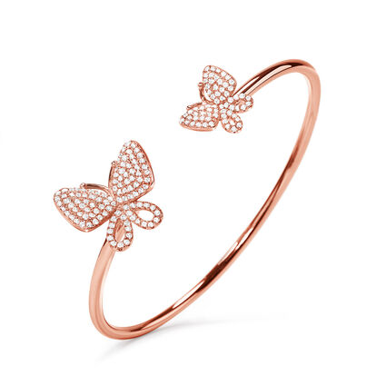 Wonderfly Rose Gold Plated Cuff Bracelet, , hires