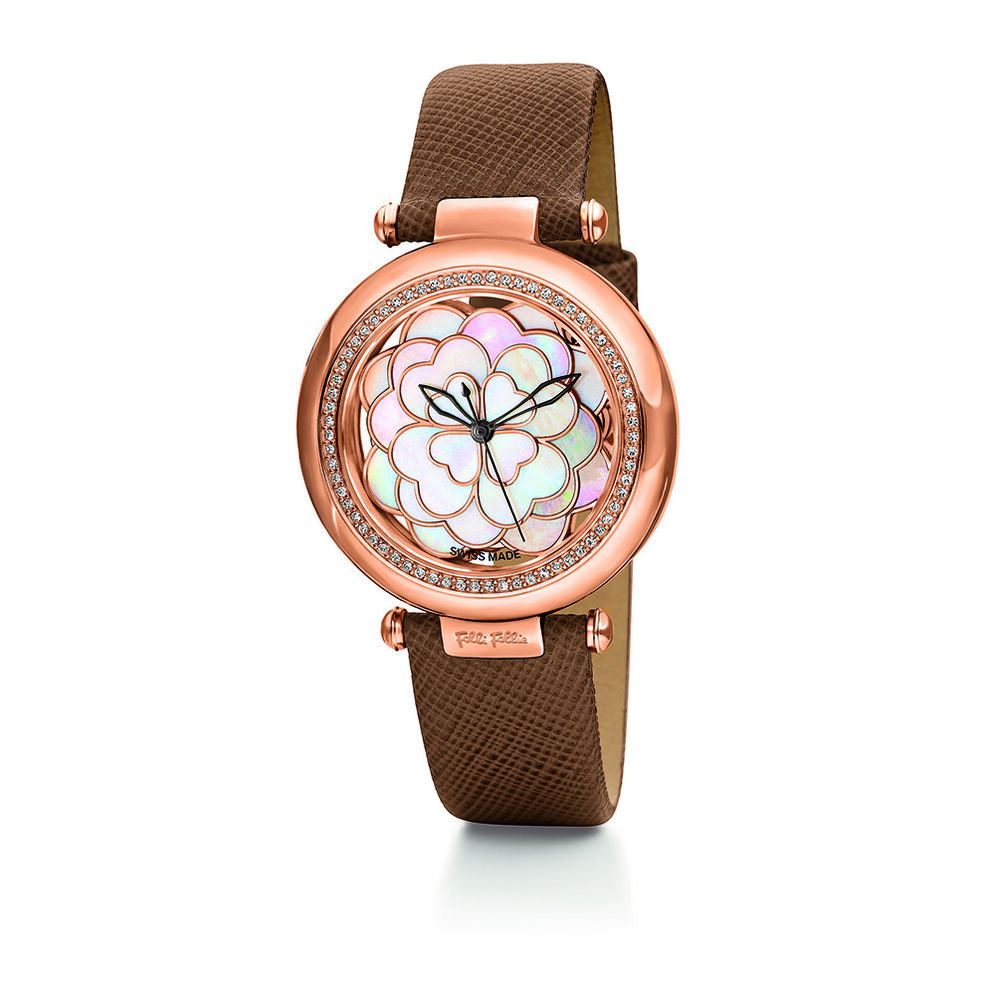 Santorini Flower Watch, Brown, hires