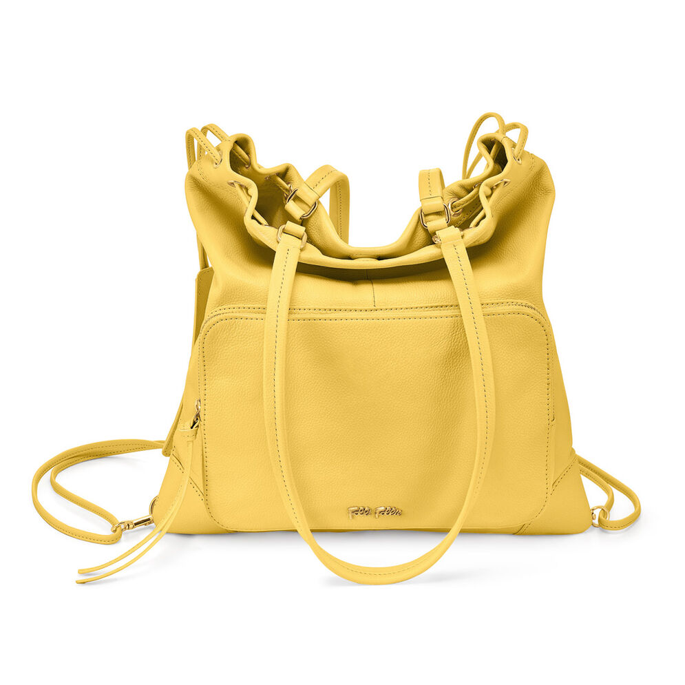 Inspire Multi-Wear Leather Shoulder Bag, Yellow, hires