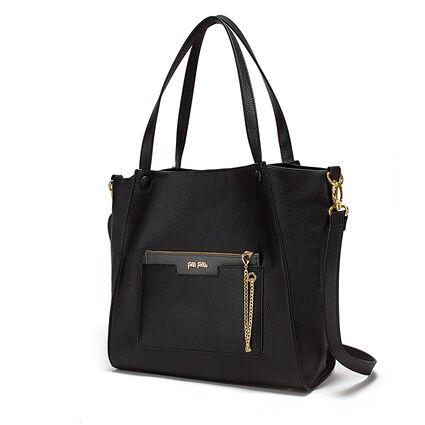 On The Go Large Shoulder Bag, Black, hires