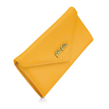 Folli Follie Foldable Wallet, Yellow, hires