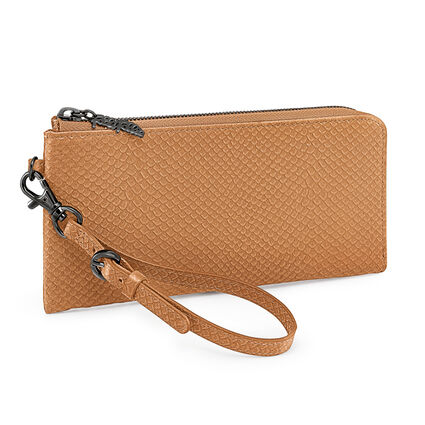 FOLIAGE WALLET, Brown, hires