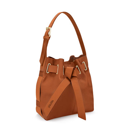 Bolso de hombro Tie The Knot, Brown, hires