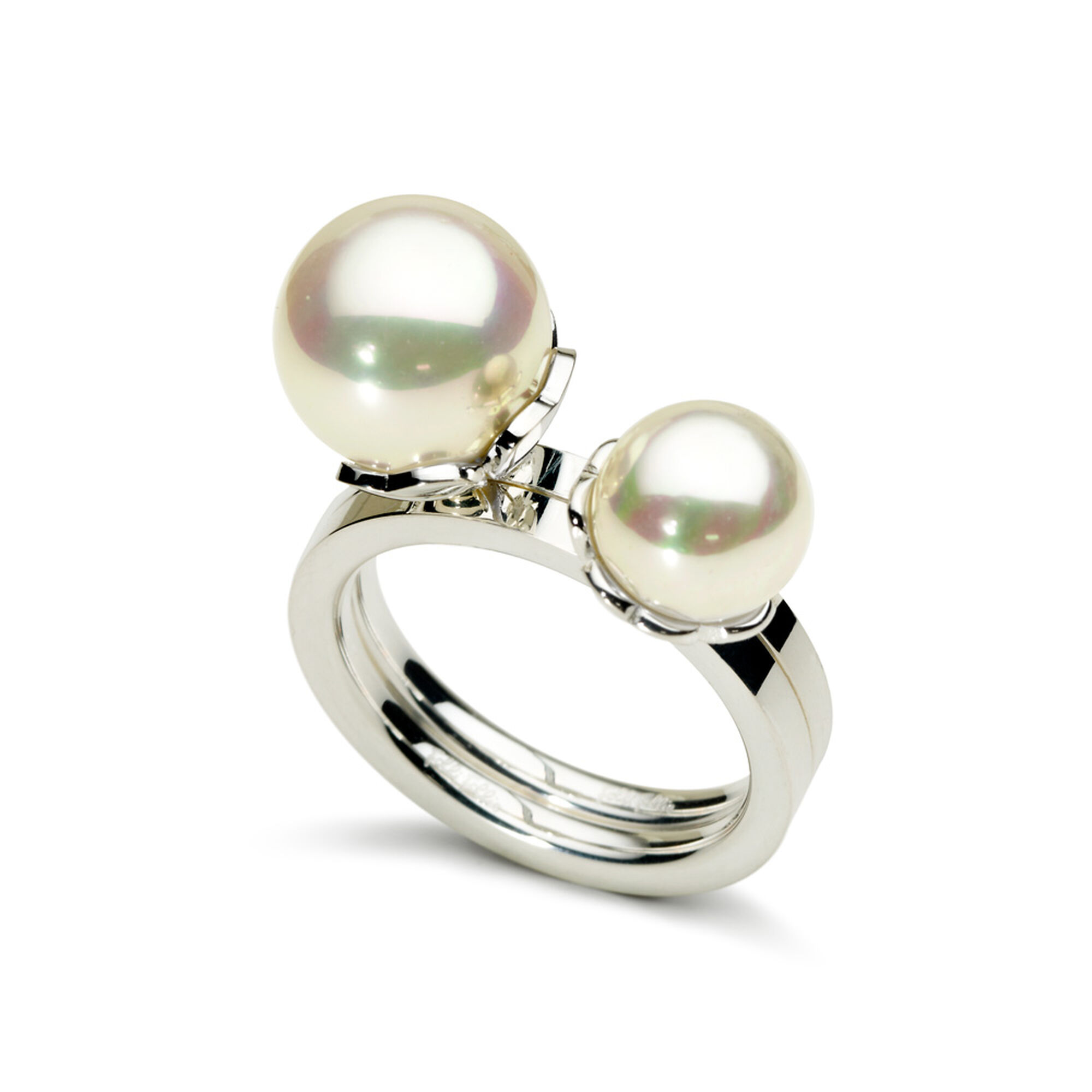 wedding cultured gold pearl in yellow ring rings