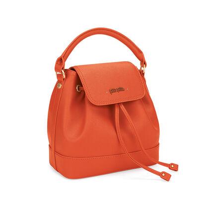 Uptown Beauty Bucket Handbag, Orange, hires