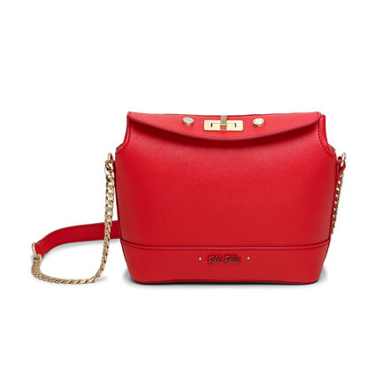 Uptown Beauty Mini Bucket Shoulder Bag, Red, hires
