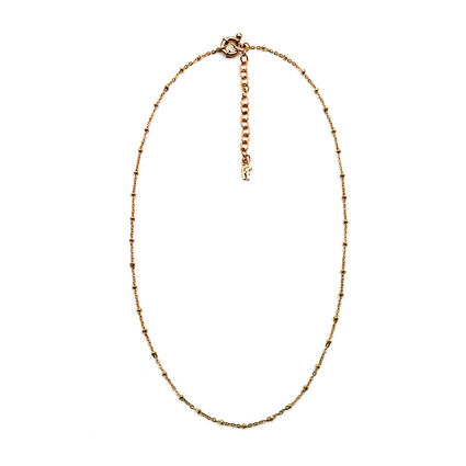 Chain Rose Gold Plated Κοντό Κολιέ, , hires