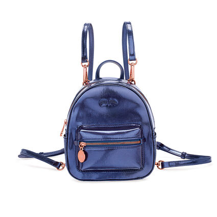 Metallic Love Mini Backpack, Blue, hires