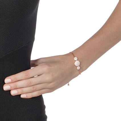 Discus Rose Gold Plated Adjuastable Bracelet, , hires